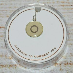 New Alex and Ani Silver Letter o Necklace Charm